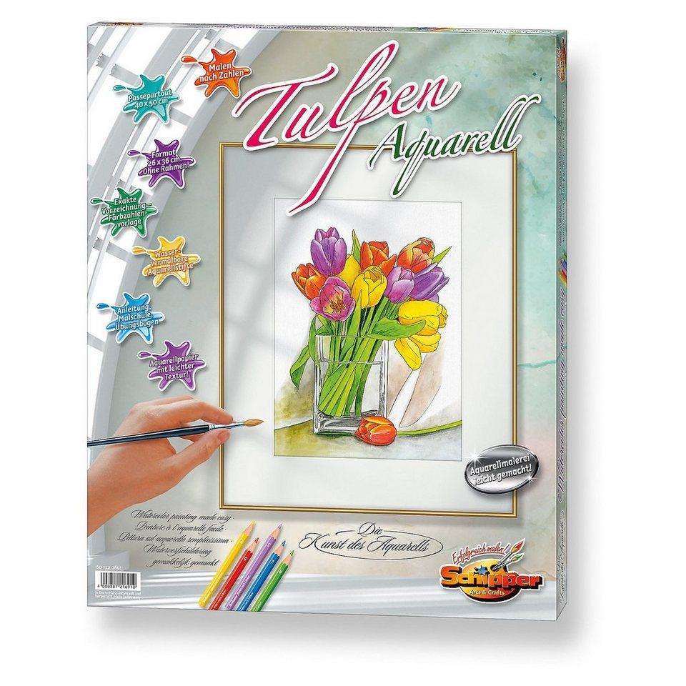 schipper malen nach zahlen tulpen aquarell kaufen otto. Black Bedroom Furniture Sets. Home Design Ideas