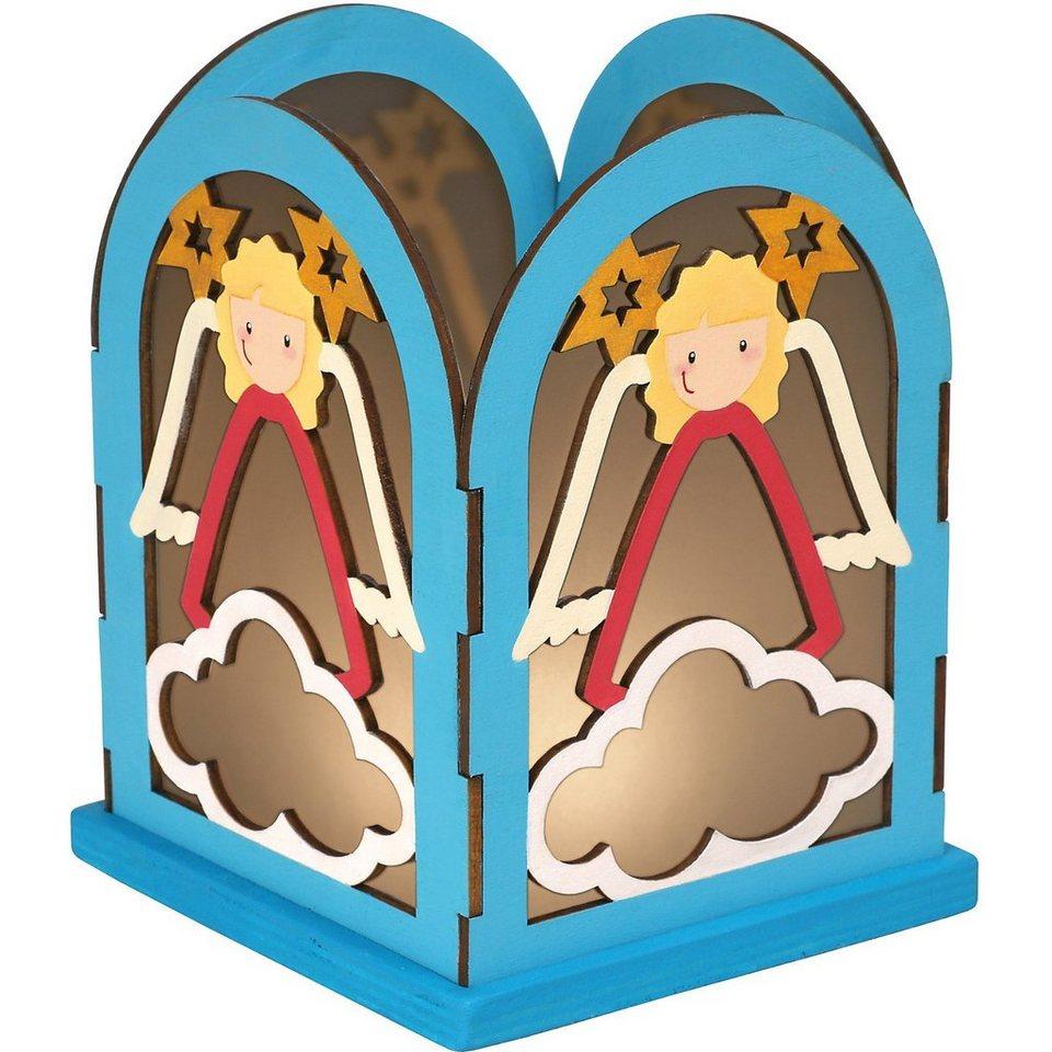 SUNNYSUE Holzbausatz Laterne Engel zum Basteln und Gestalten