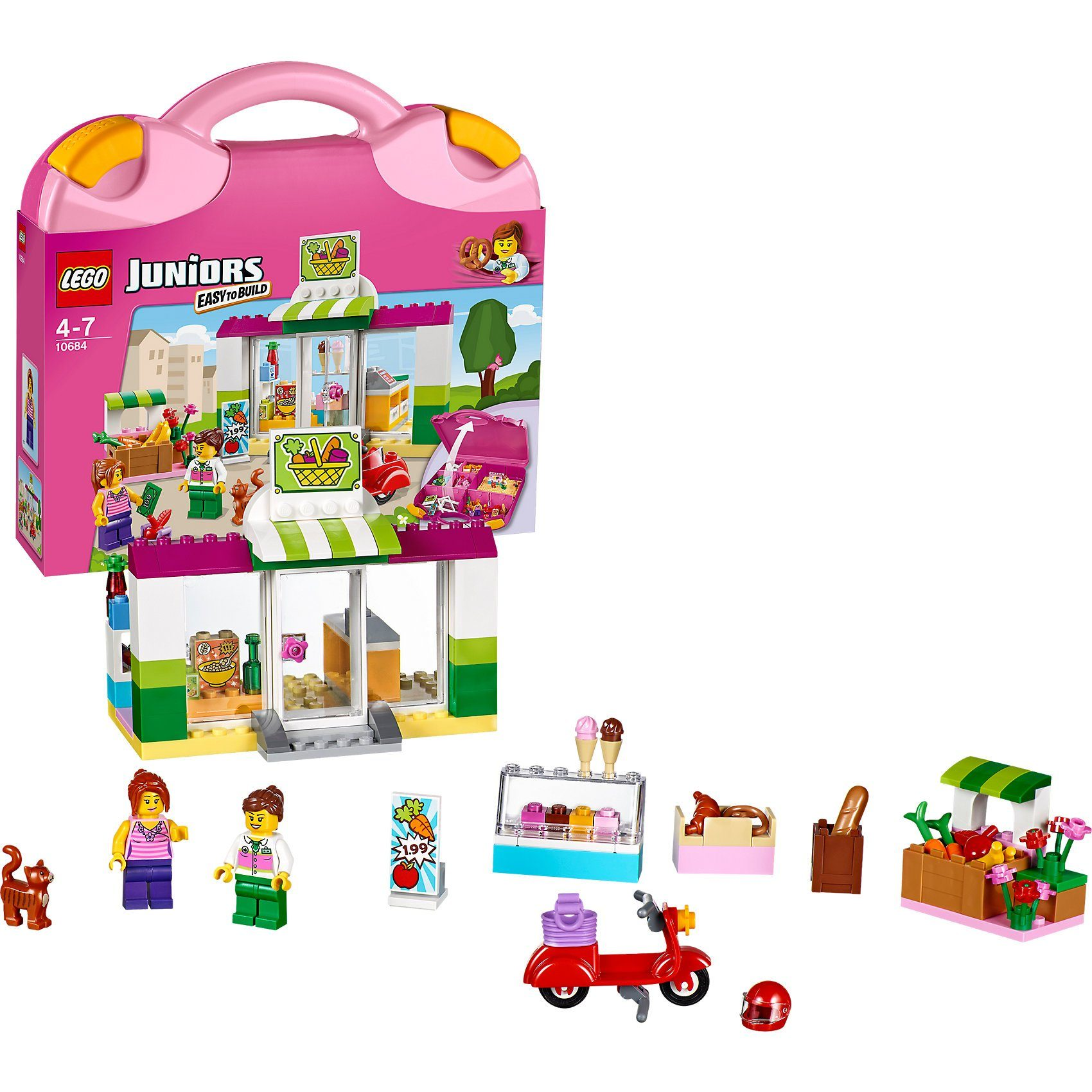 LEGO 10684 Juniors: Supermarkt-Koffer