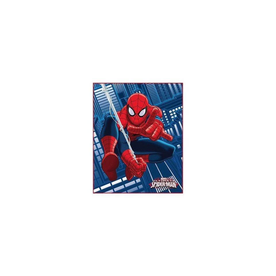 CTI Kuscheldecke Spider-Man, 110 x 140 cm in blau