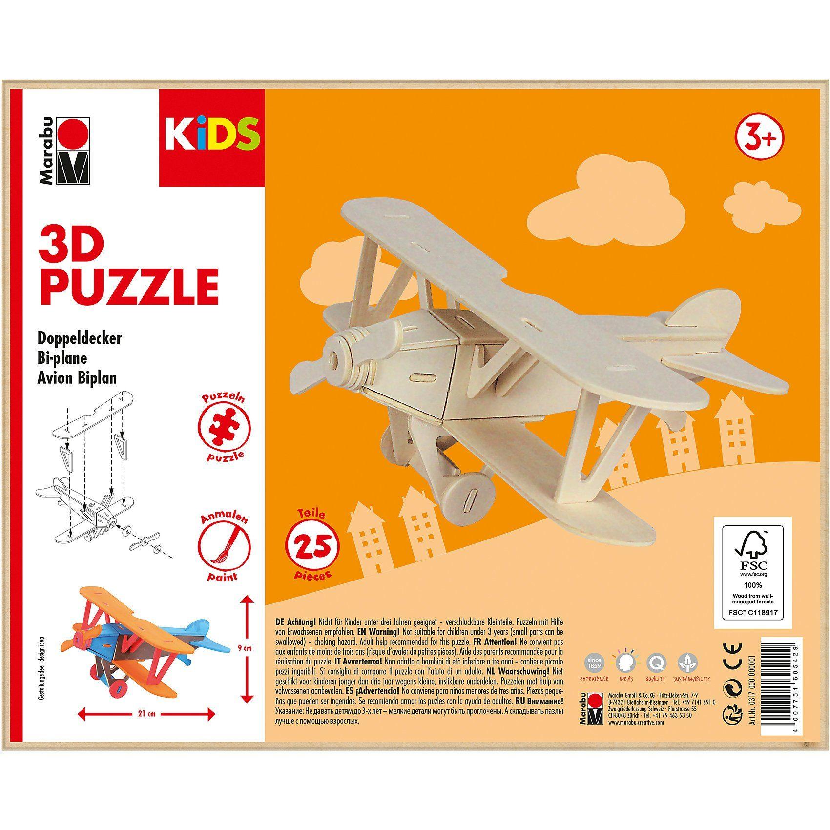 Marabu KIDS 3D Puzzle Doppeldecker