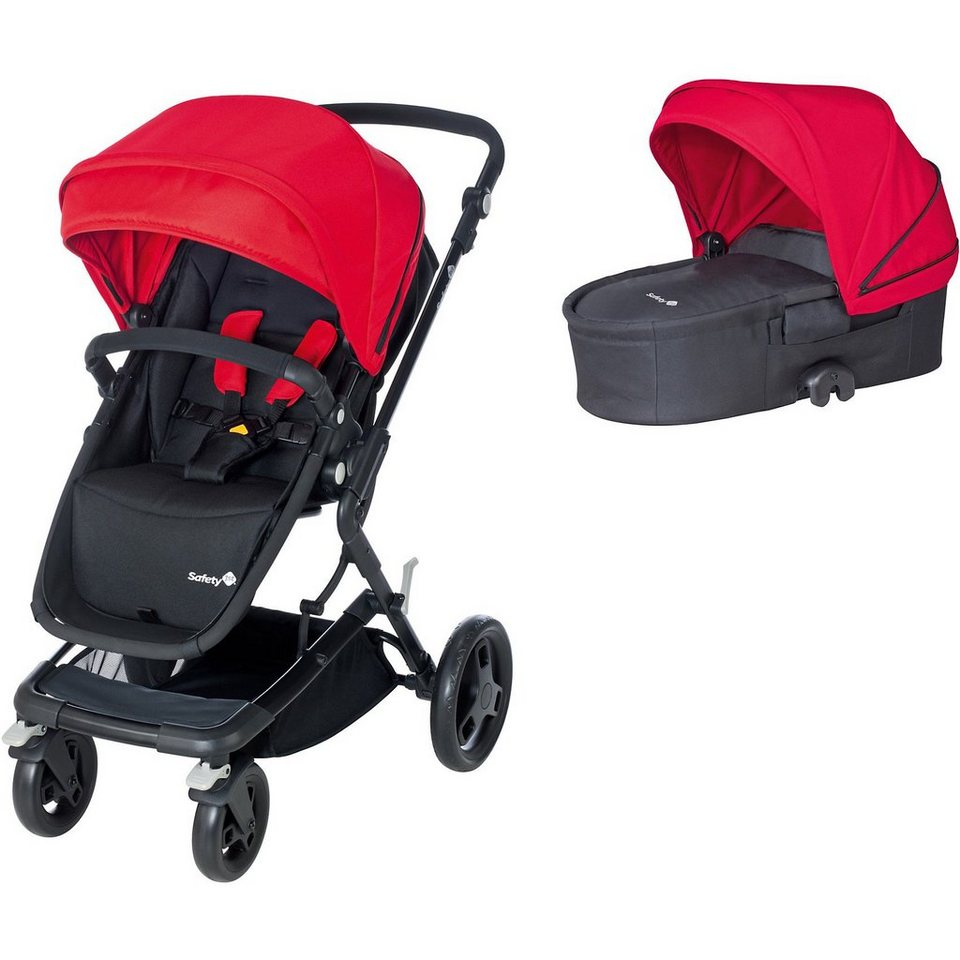 Safety 1st Kombi Kinderwagen Kokoon Comfort Set, Plain Red, 2015 in rot
