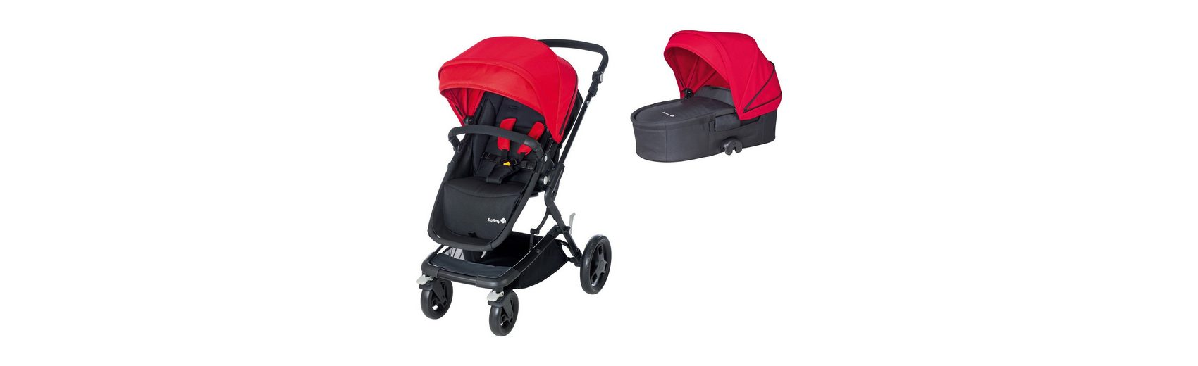 Safety 1st Kombi Kinderwagen Kokoon Comfort Set, Plain Red, 2015