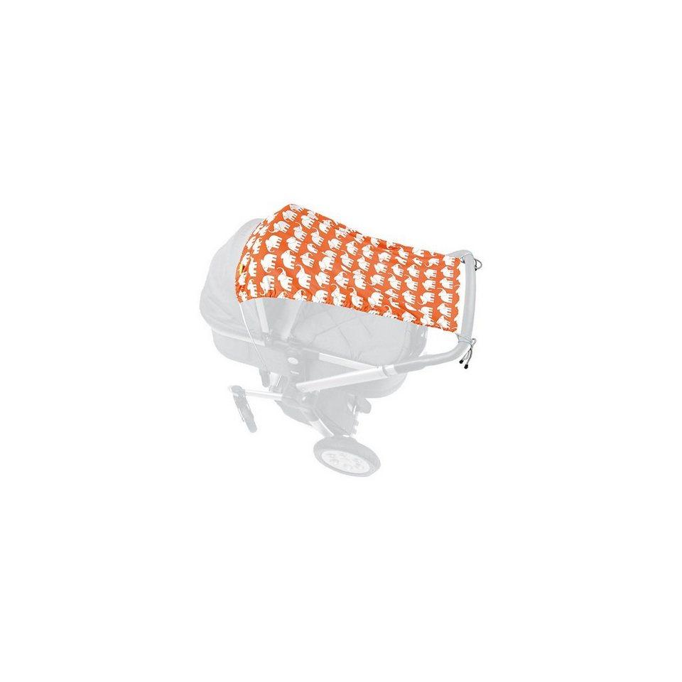 priebes Schattenspender für Kinderwagen und Buggy, Samson, Elefanten in orange
