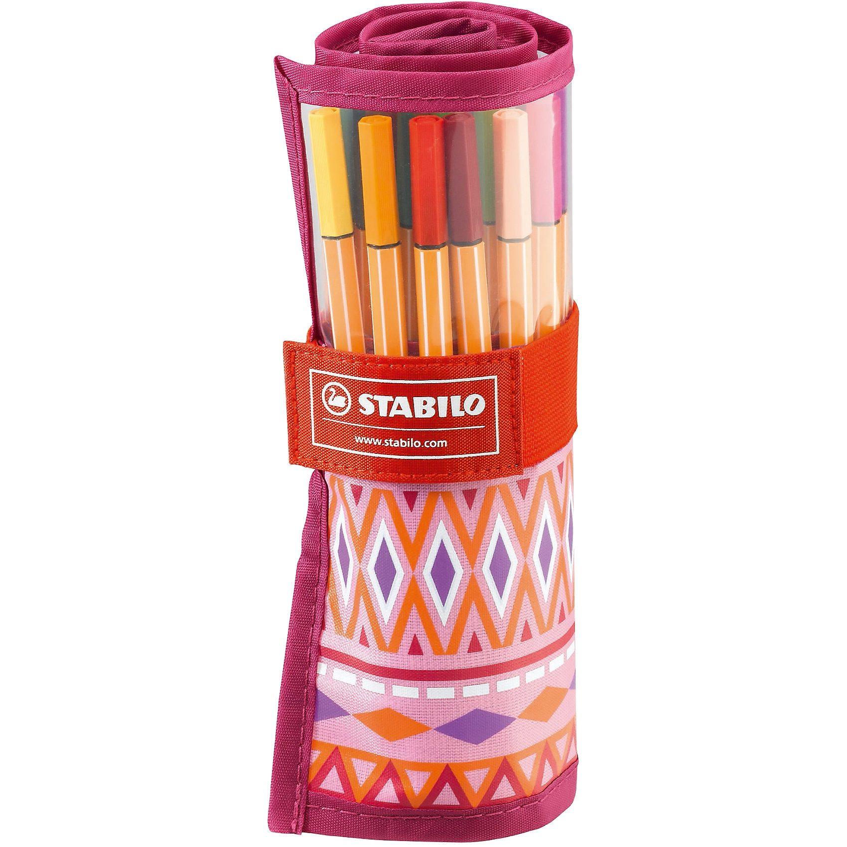 Stabilo Fineliner point 88 im Rollerset Festival Spirit pink, 25 Far