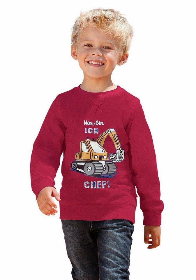 """CFL Sweatshirt """"Hier bin ICH CHEF!"""""""" in rot"""