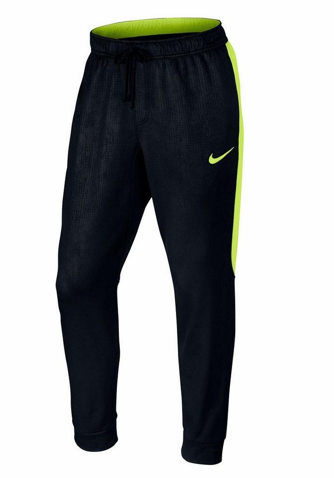 Nike Funktions-Trainingshose in Schwarz-Neongelb