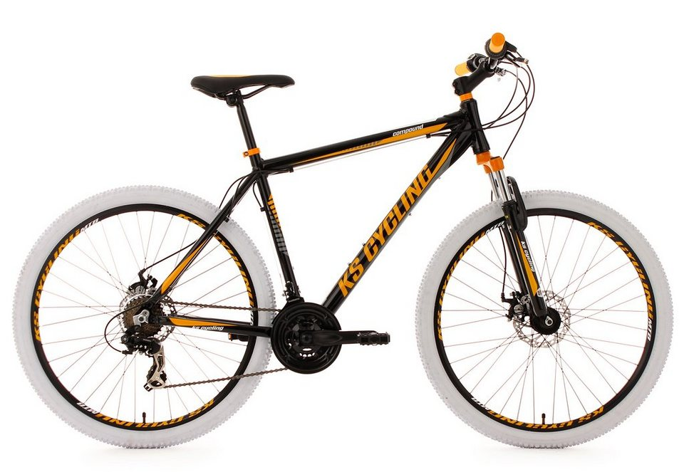 KS Cycling Hardtail-Mountainbike, 27,5 Zoll, 21 Gang-Kettenschaltung, schwarz, »Compound« in schwarz
