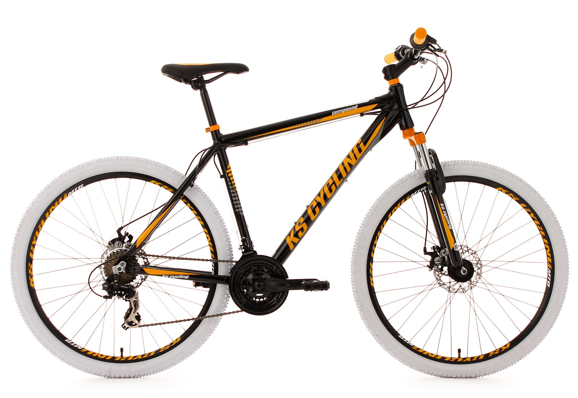 KS Cycling Hardtail-Mountainbike, 27,5 Zoll, 21 Gang-Kettenschaltung, schwarz, »Compound«