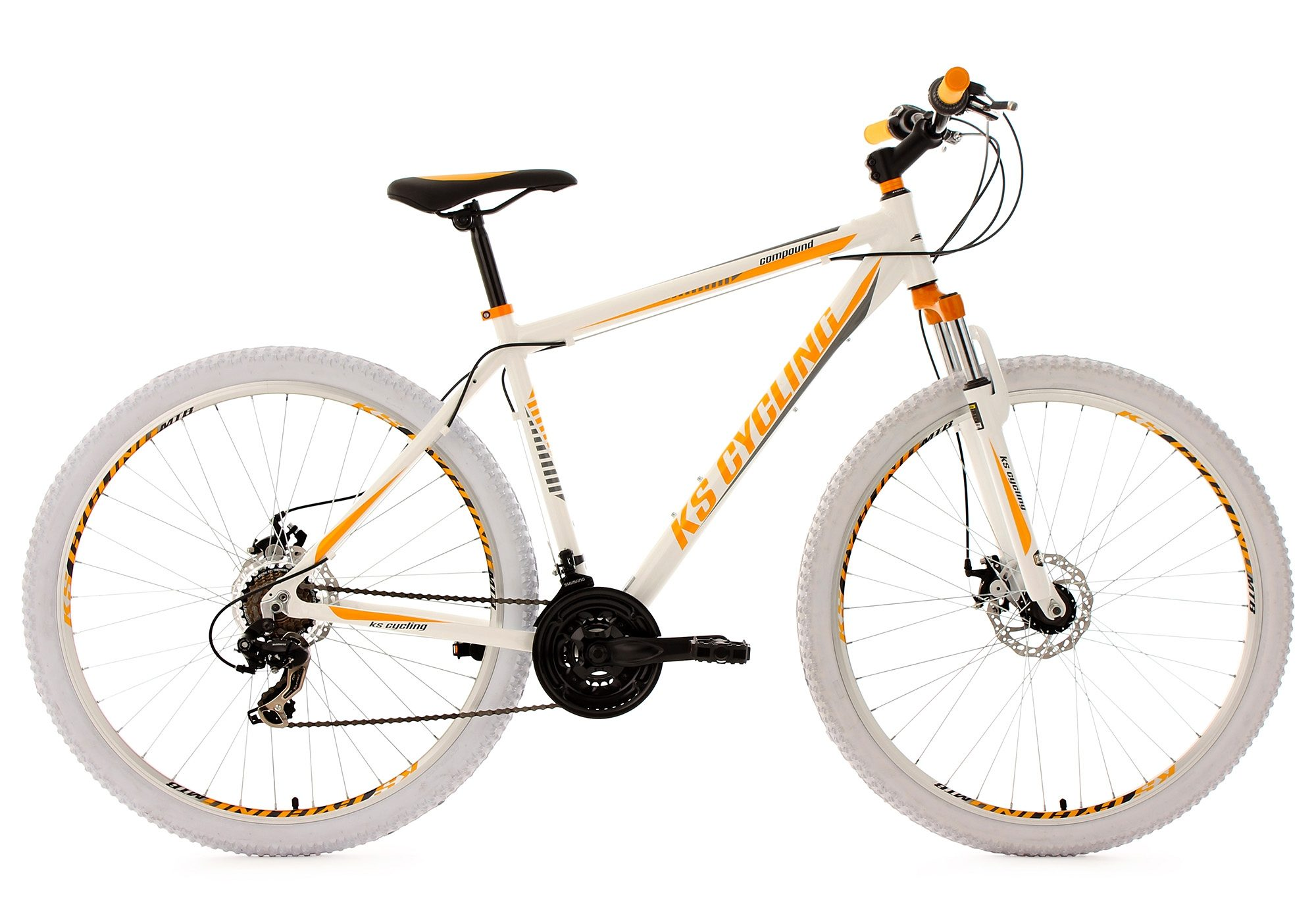 KS Cycling Hardtail-Mountainbike, 29 Zoll, 21 Gang-Kettenschaltung, weiß, »Compound«
