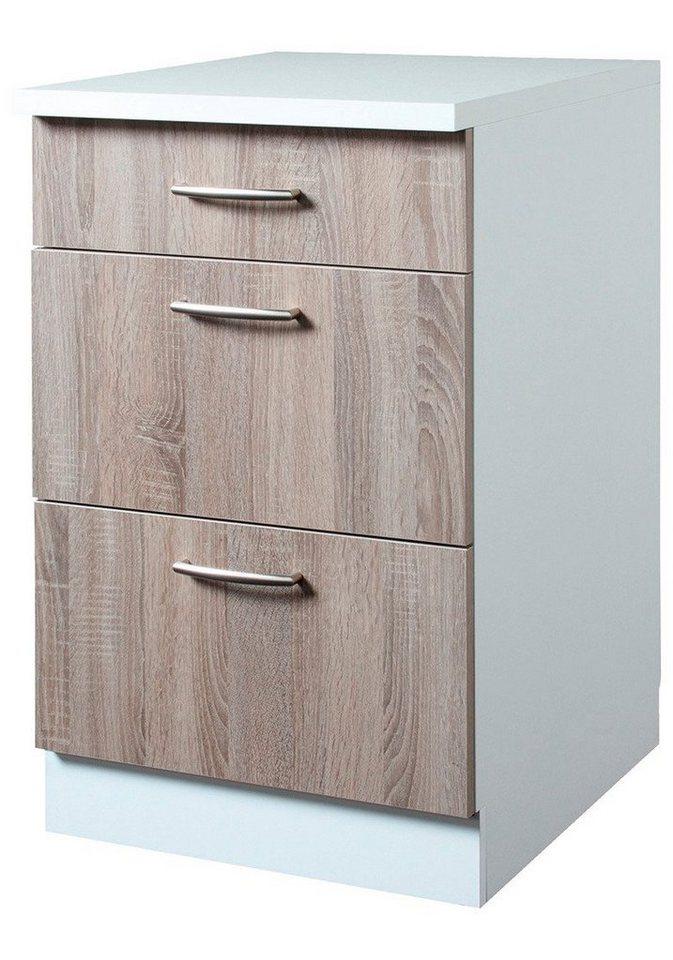 Wiho Küchen Küchenunterschrank »Porto«, Breite 50 cm in eichefarben trüffel