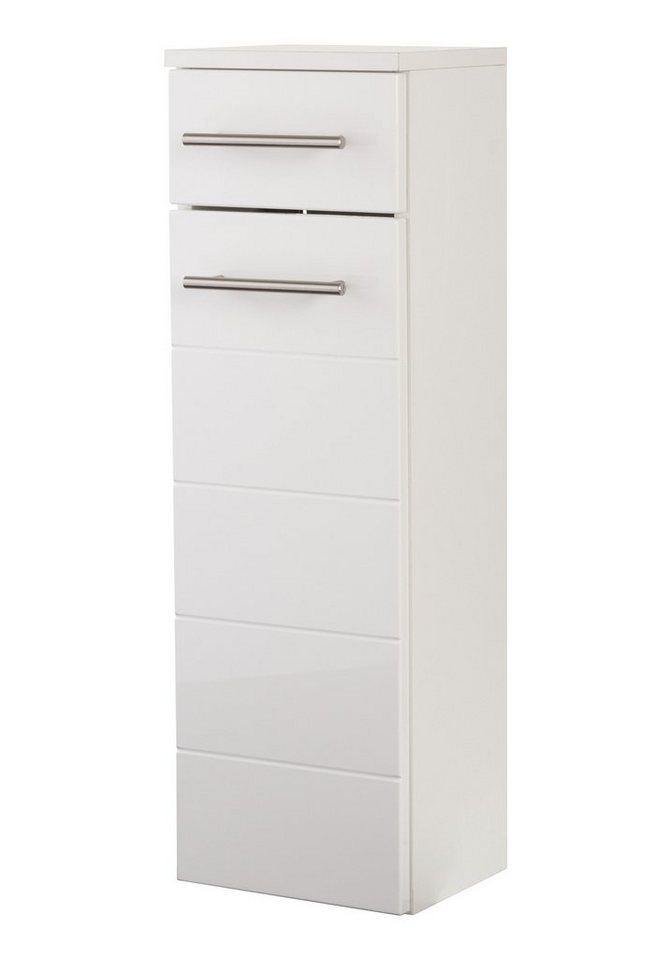 Unterschrank »Porto«, Breite 25 cm in weiß/weiß