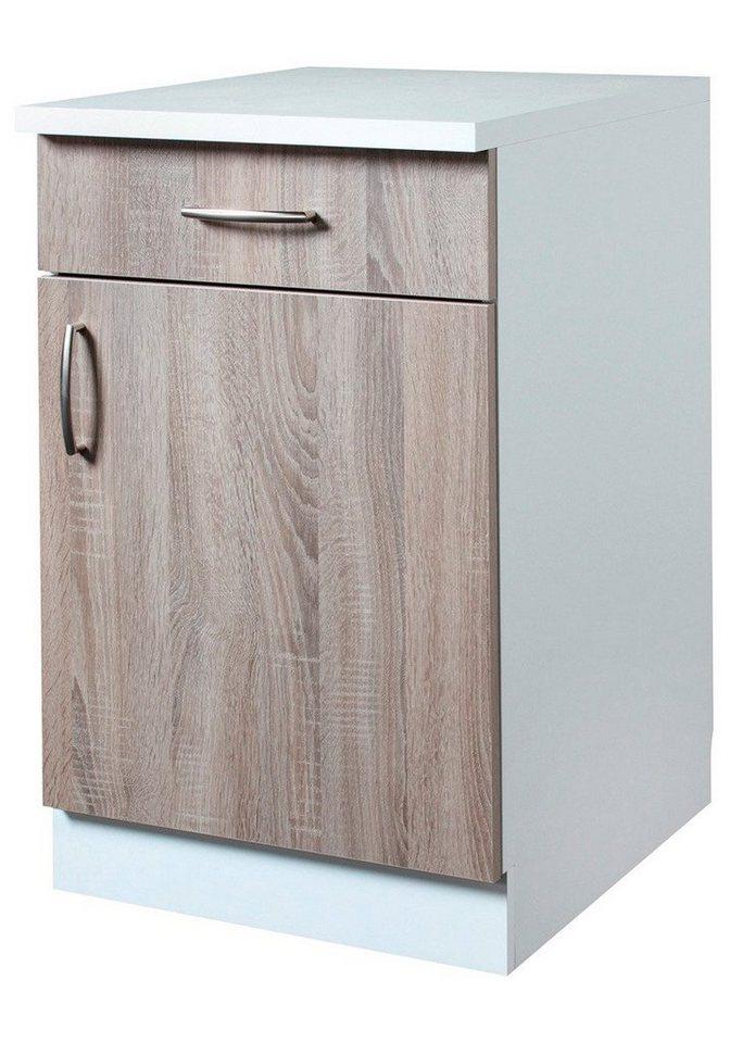 Küchenunterschrank »Porto«, Breite 50 cm in eichefarben trüffel