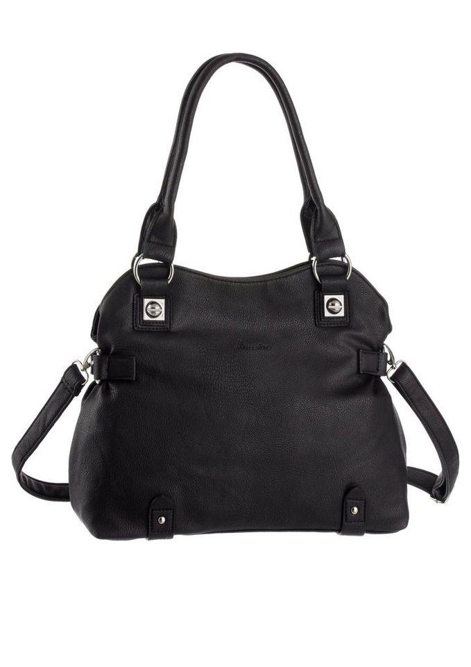 J.Jayz Handtasche mit Umhängeriemen in schwarz