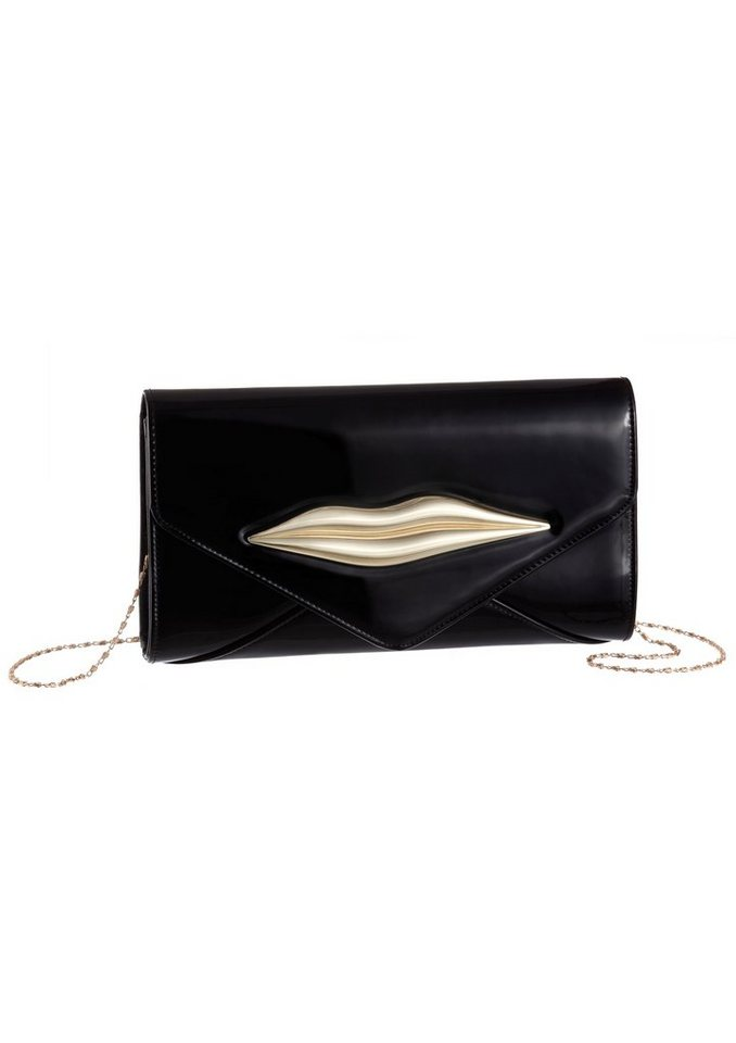 Melrose Clutch in Kuvert Form in schwarz