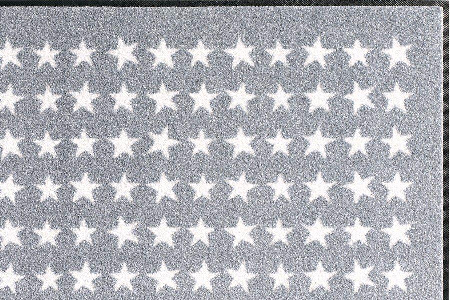 Fußmatte Stern in grau/weiß