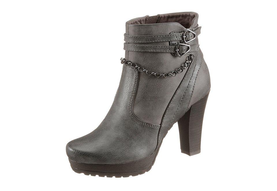 Tamaris High Heel Stiefelette in anthrazit used