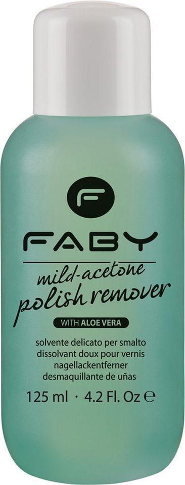 Faby, »Mild-Aceton Polish Remover«, Nagellack-Entferner mit Aceton