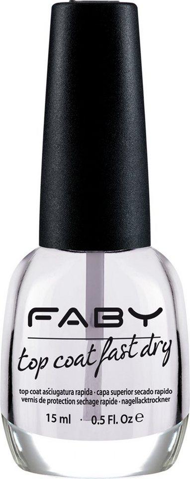 Faby, »Top Coat Fast Dry«, Schnell-trocknender Überlack