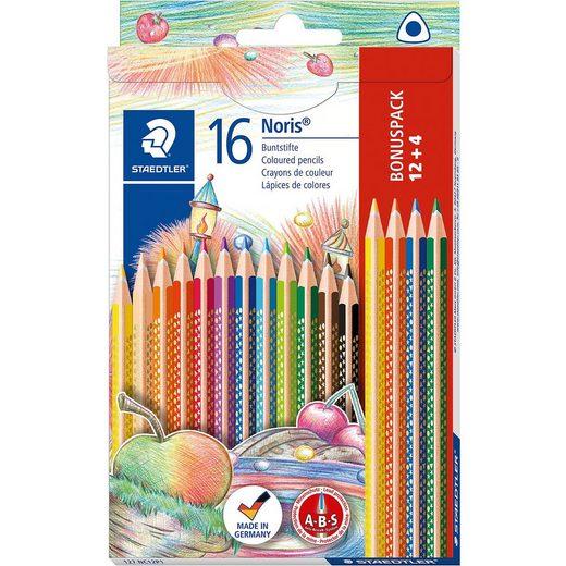 STAEDTLER NORIS Club Dreikant-Buntstifte, 12 Farben & 4 Farben EXTRA