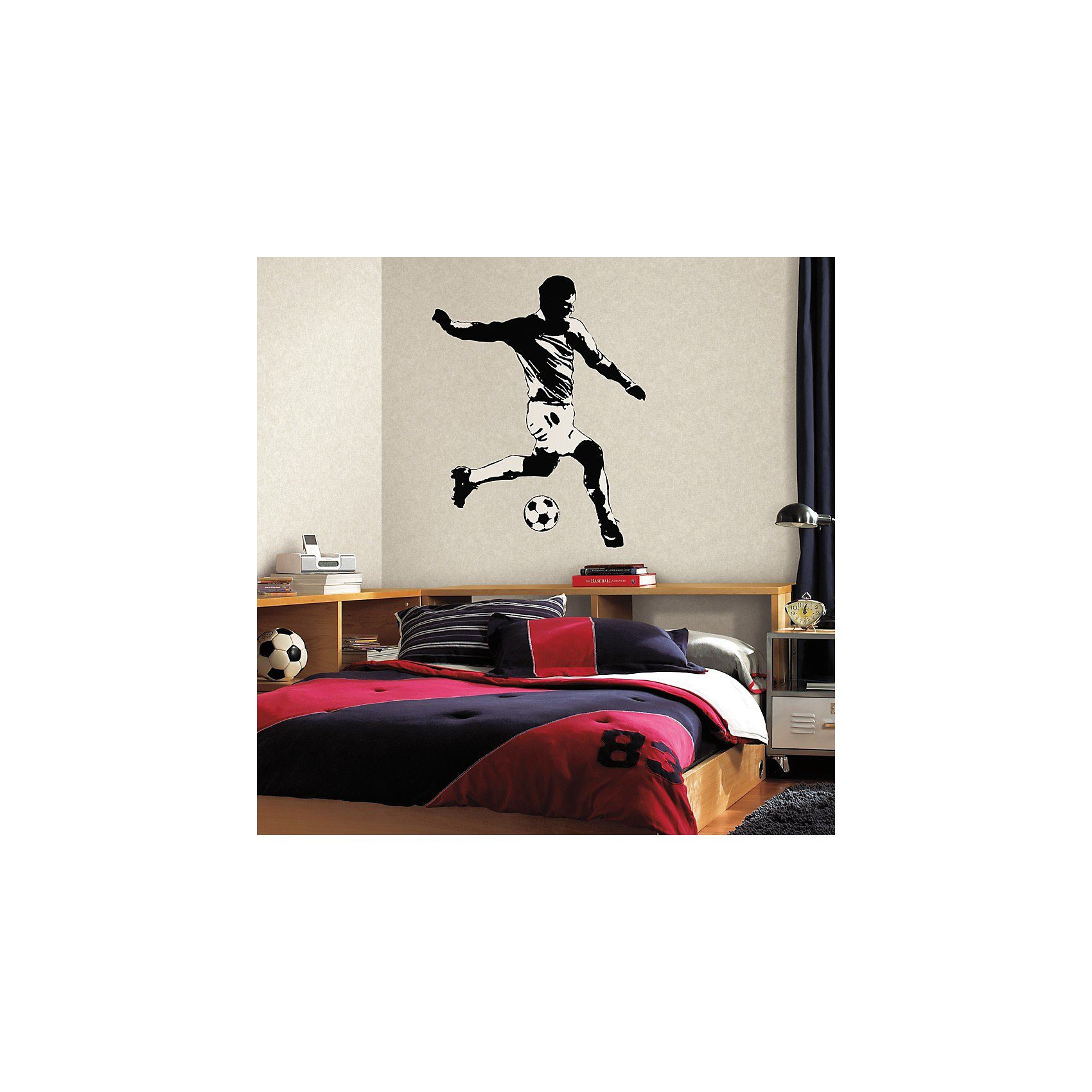 RoomMates Wandbild Fußballer