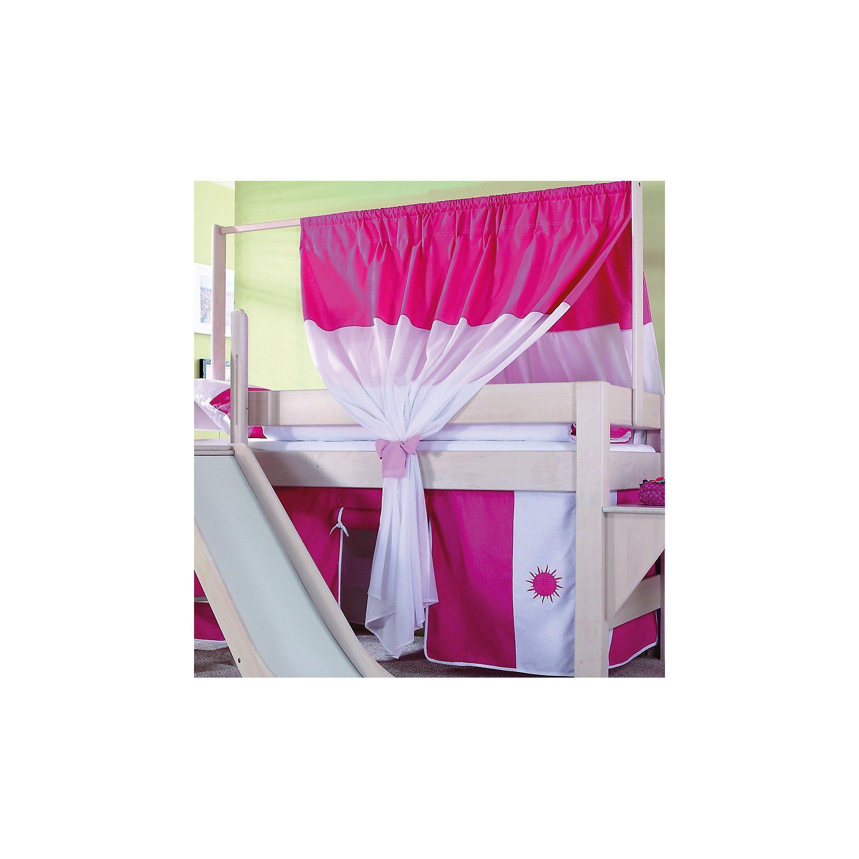 Relita Zeltstoffset für Spielbett LEO, pink/weiß
