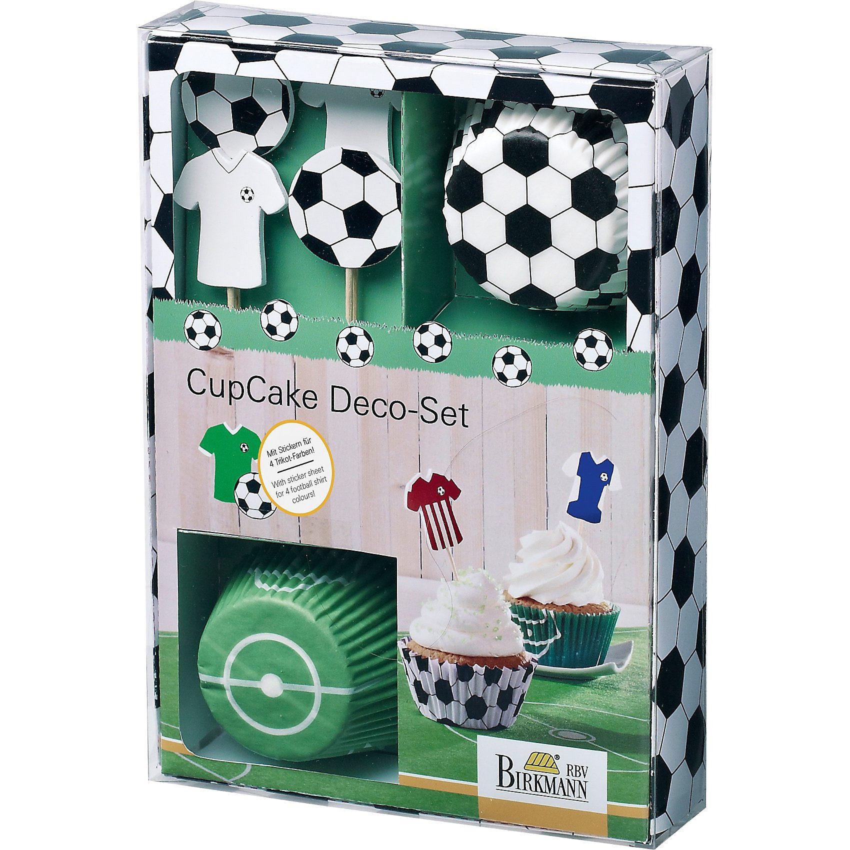 Birkmann CupCake Deco-Set Kick it, 40-tlg.