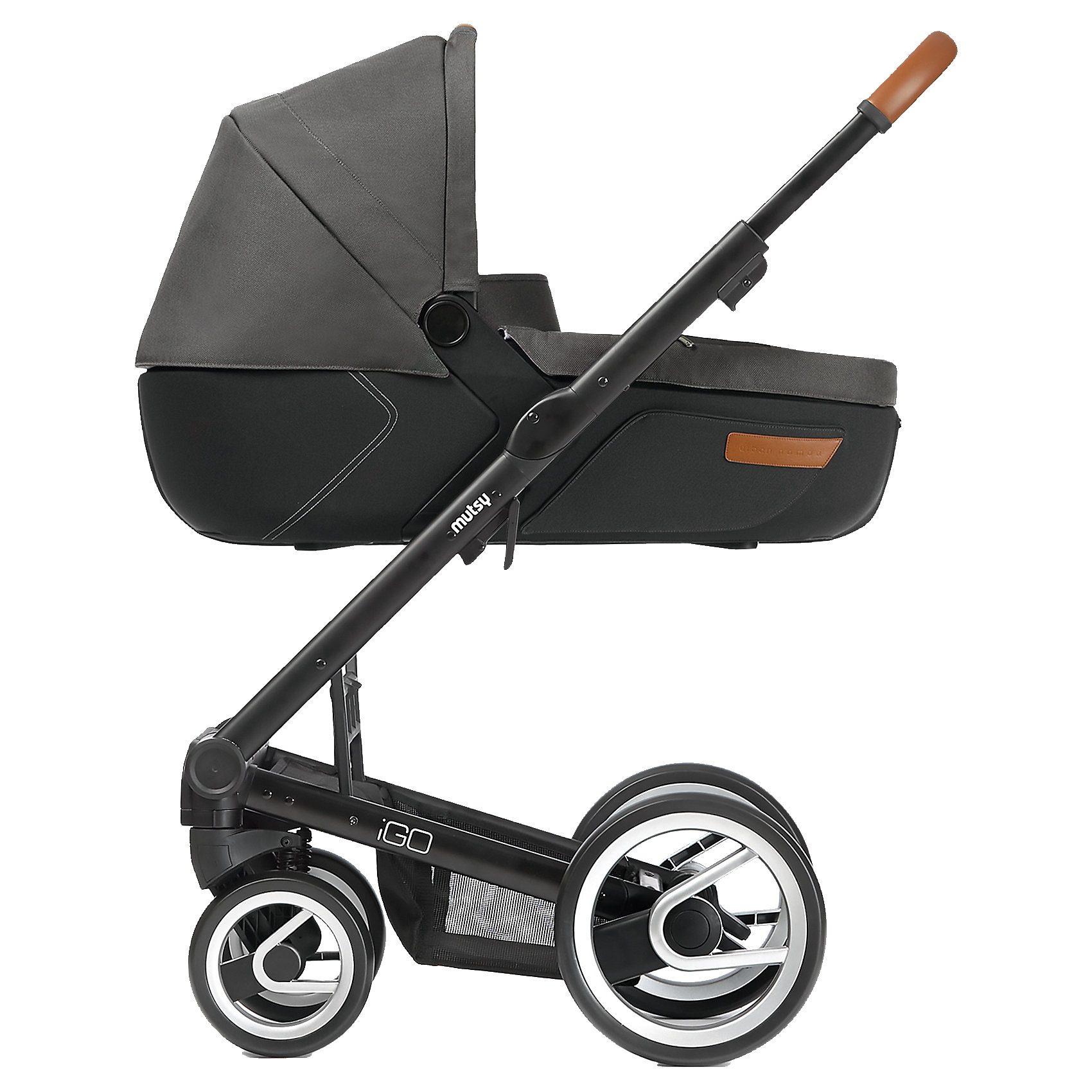 mutsy Kombi-Kinderwagen Igo, urban nomad dark grey, Gestell black,