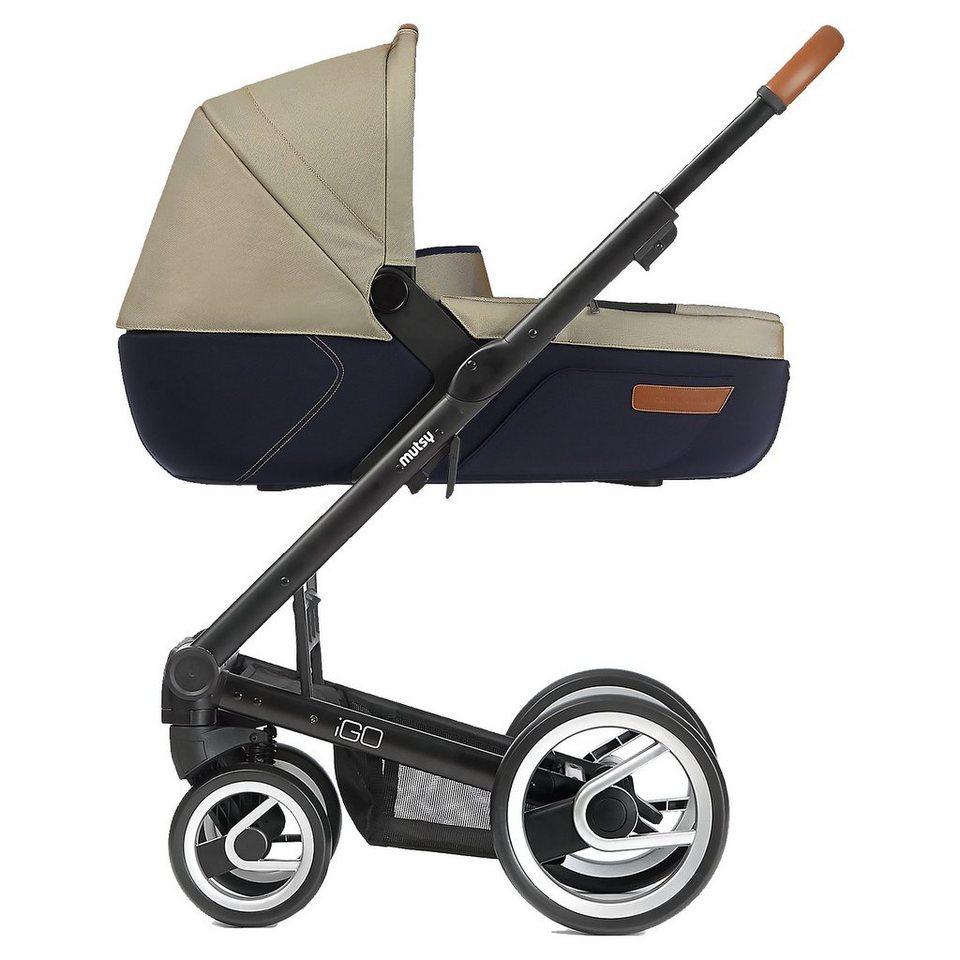 mutsy Kombi-Kinderwagen Igo, urban nomad sand&blue, Gestell black,