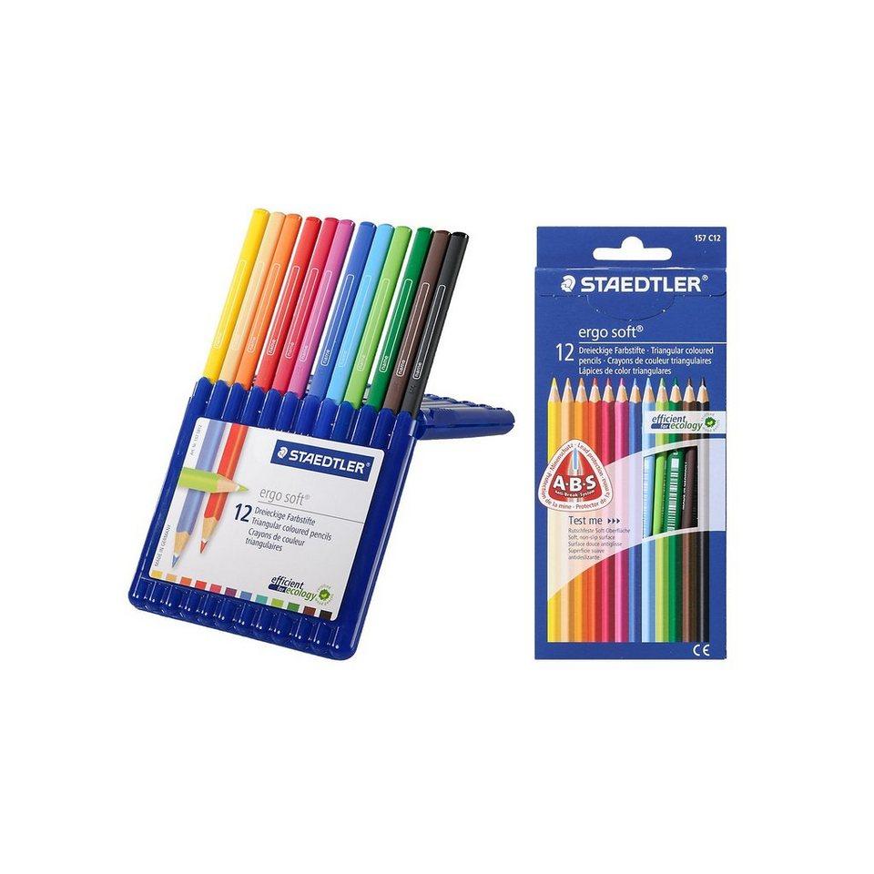 Staedtler Aquarellfarbstifte ergosoft, 2 x 12 Farben, inkl. Aufstellbo