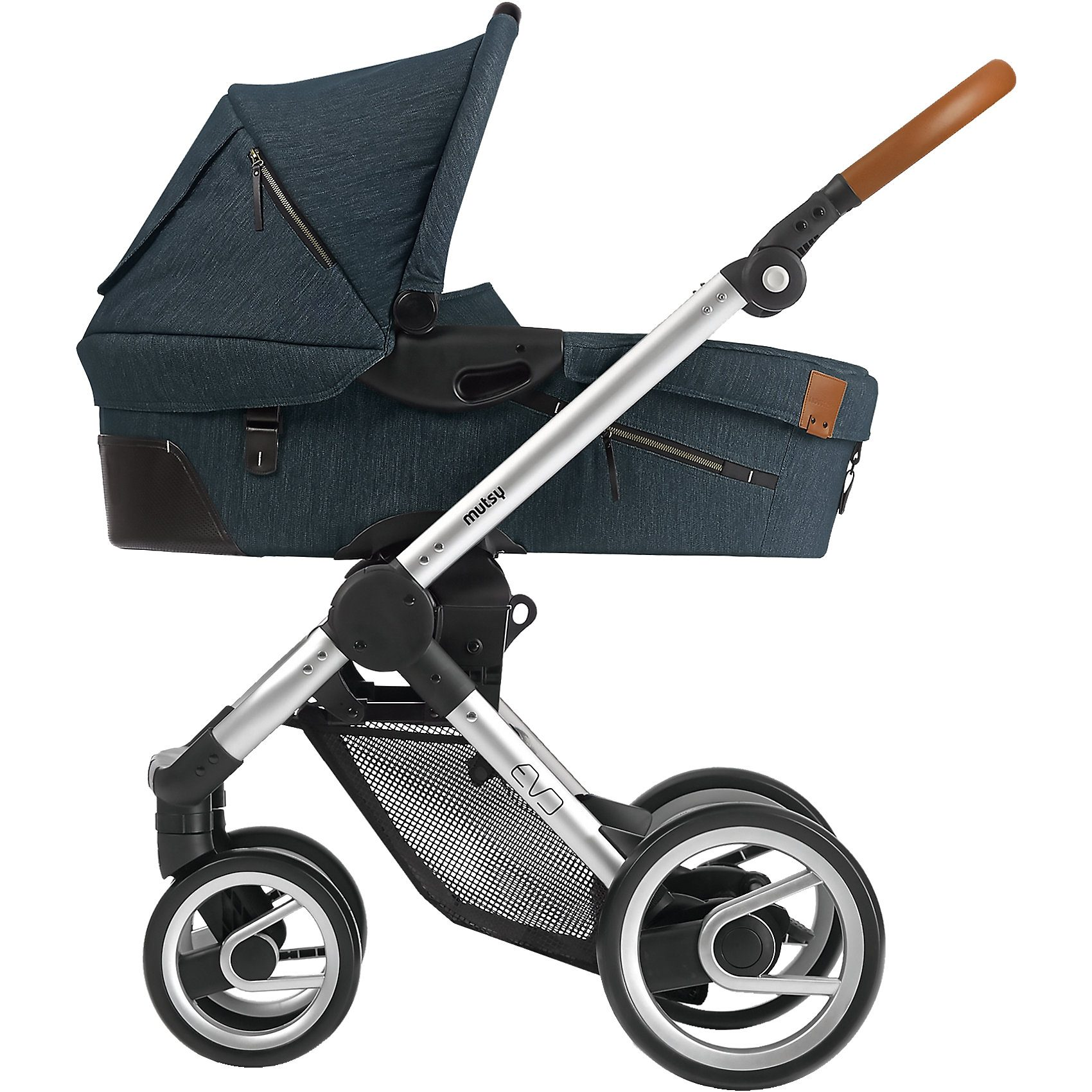 mutsy Kombi-Kinderwagen Evo, industrial blue, Gestell silver, 2015