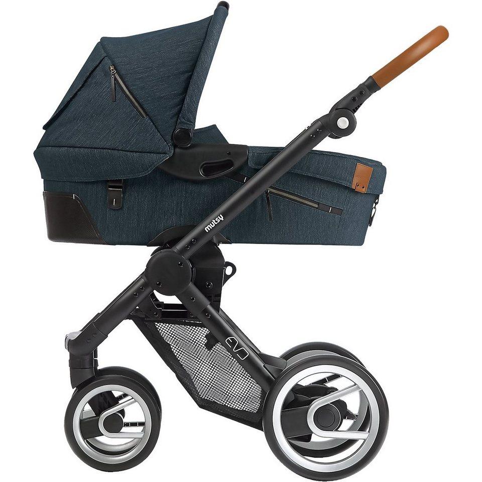 mutsy Kombi-Kinderwagen Evo, industrial blue, Gestell black, 2015