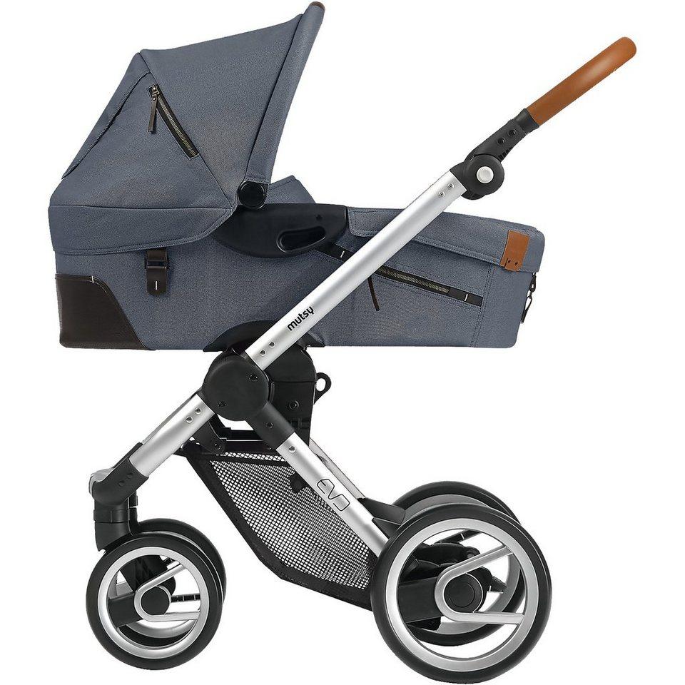 mutsy Kombi-Kinderwagen Evo, industrial grey, Gestell silver, 2015