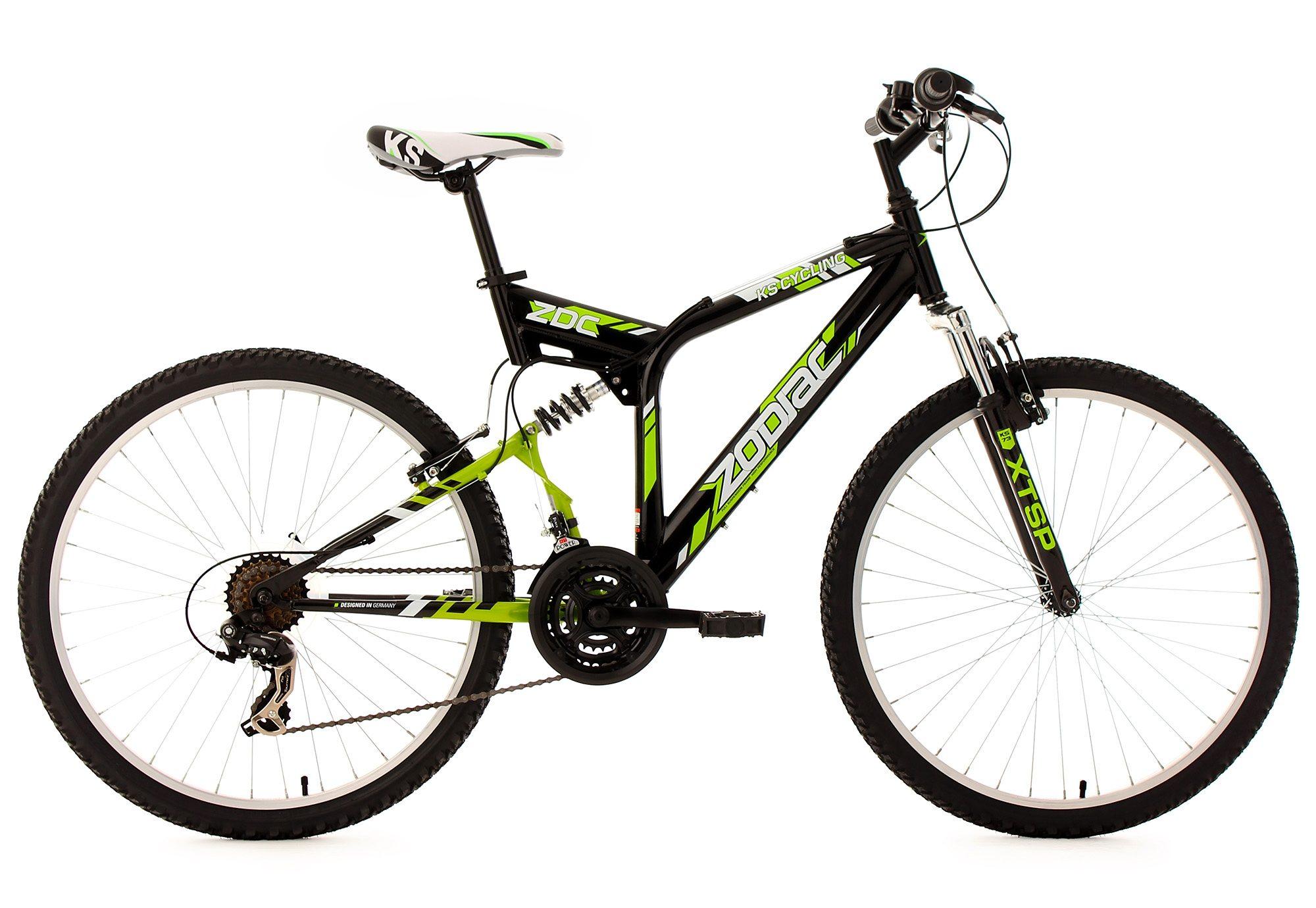Fully-Mountainbike, 26 Zoll, 21 Gang Kettenschaltung, schwarz, »Zodiac«, KS Cycling