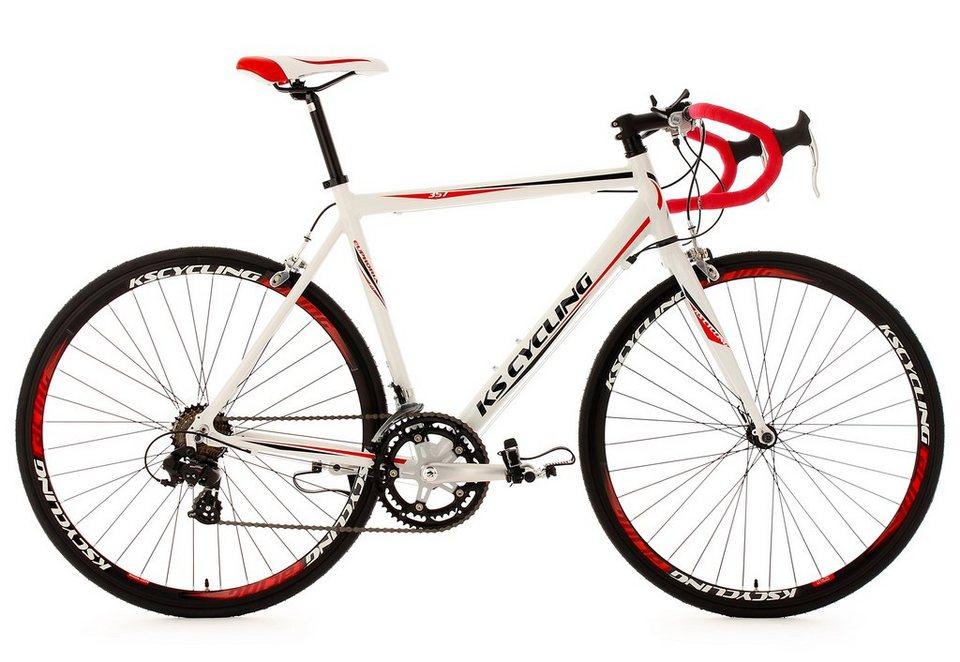 Alu Rennrad, KS Cycling, »Euphoria«, 28 Zoll, SHIMANO 14-Gang-Kettenschaltung, Rennbremsen in weiß