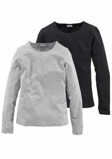 KIDSWORLD Langarmshirt (Packung, 2-tlg) Basicform