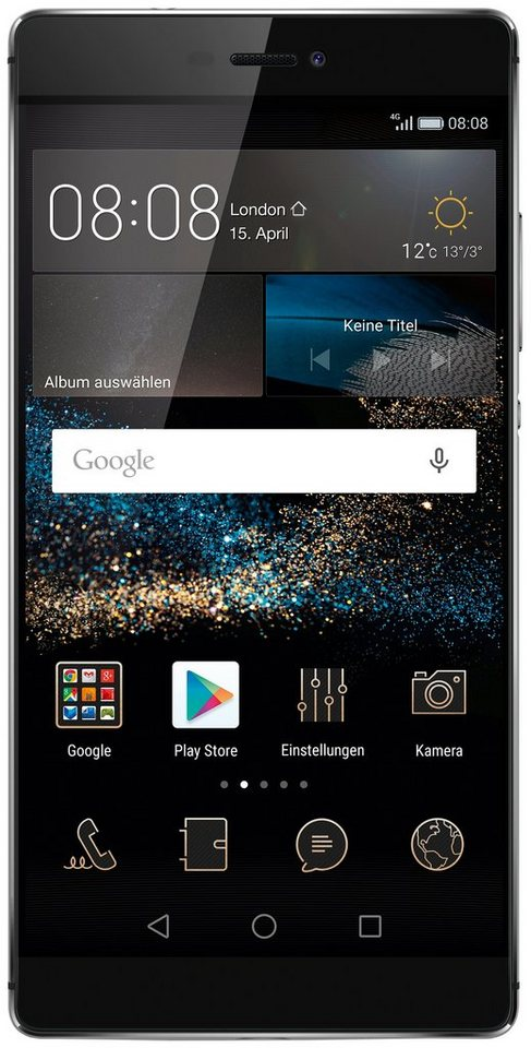 Huawei P8 Smartphone, 13,2 cm (5,2 Zoll) Display, LTE (4G), Android 5.0, 13,0 Megapixel, NFC in schwarz