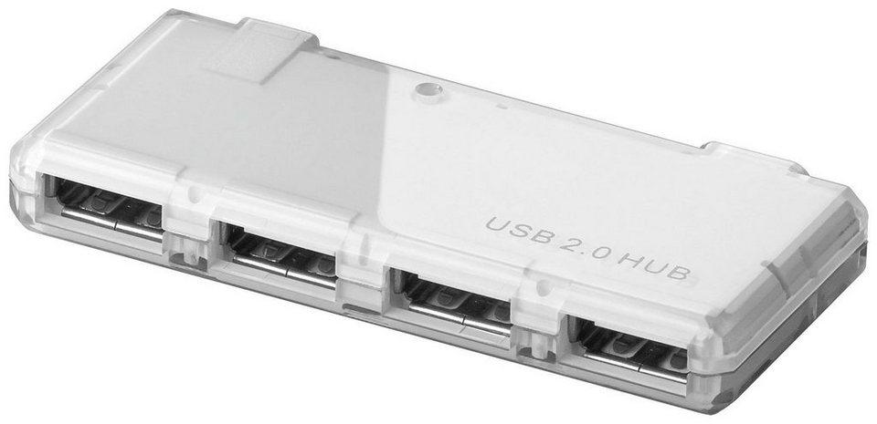 goobay USB 2.0 Hi-Speed HUB »Verteiler 4 Port Mini USB 2.0« in weiß
