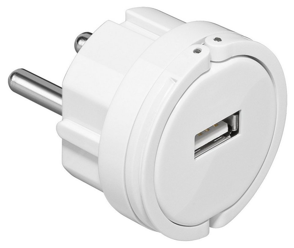 goobay USB-Ladegerät 1000 mA »lädt Tablets & Smartphones an der Steckdose« in weiß