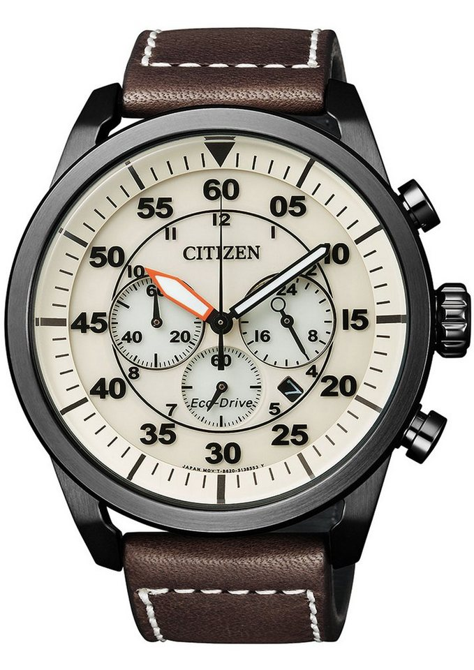 Citizen Chronograph »CA4215-04W« in braun