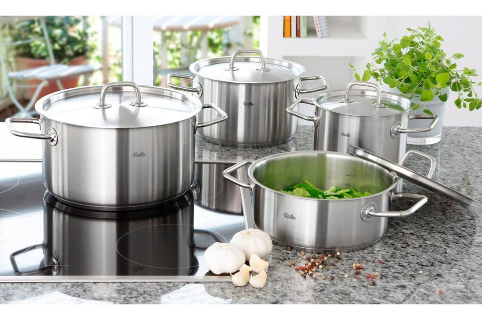 fissler topf set edelstahl 18 10 berlin 8tlg induktion online kaufen otto. Black Bedroom Furniture Sets. Home Design Ideas