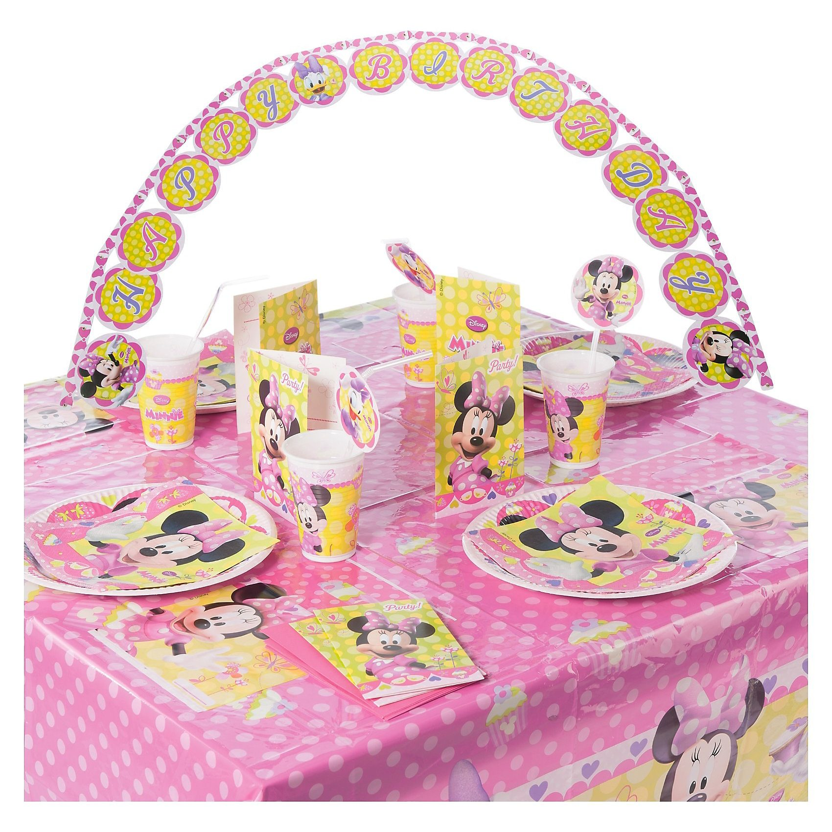 Procos Partyset Minnie Bow-Tique 56-tlg.