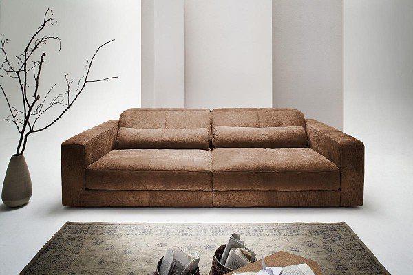 Kasper-Wohndesign Big Ledersofa 3,5 Sitzer inkl. 2 Kissen Leder Toro »GIGANT«