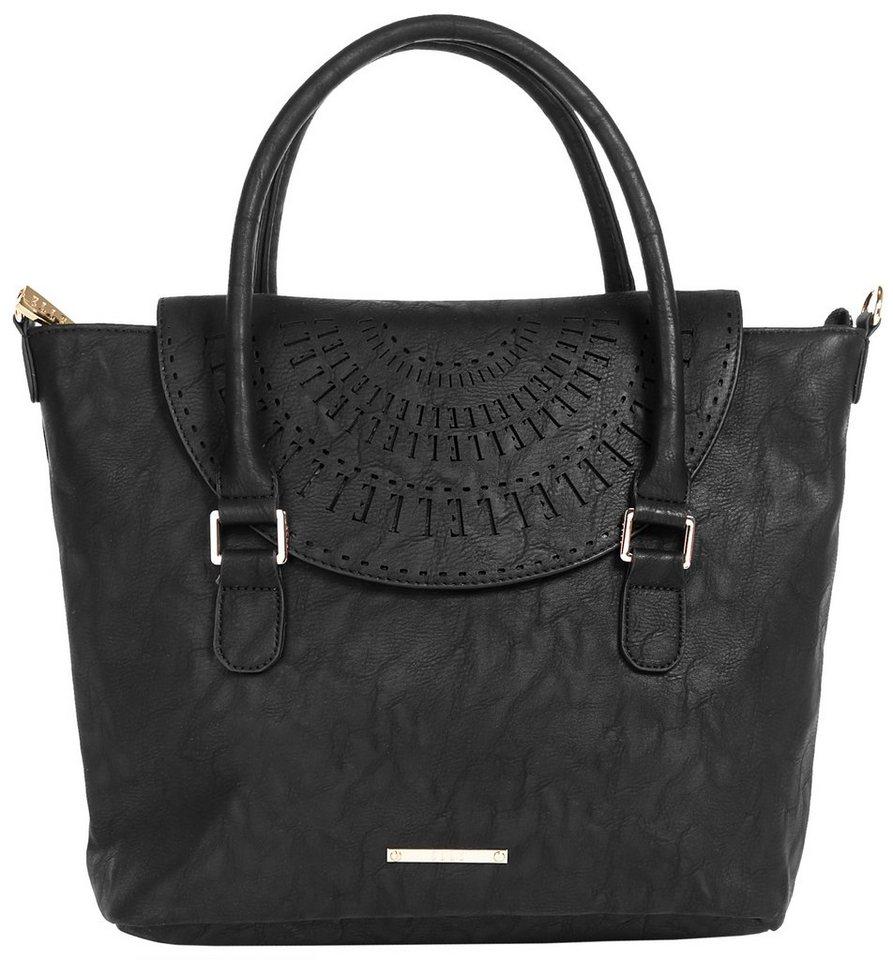 ELLE Damen Handtasche in schwarz