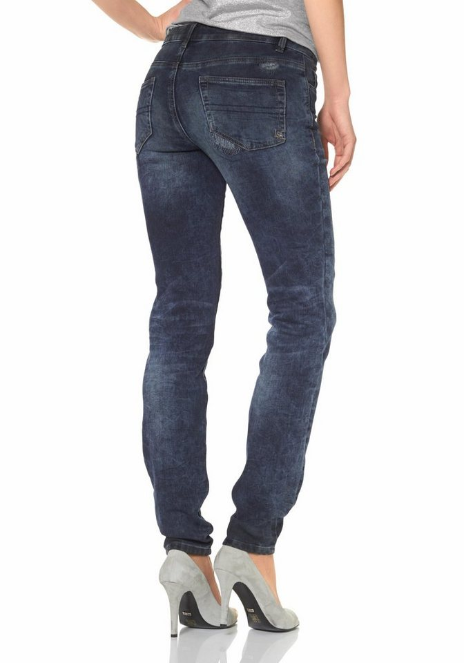 Laura Scott Röhrenjeans Jogg-Pants in blue-used
