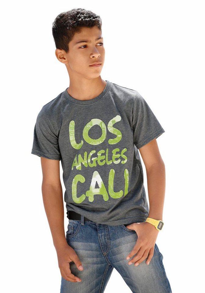"""Buffalo T-Shirt """"Los Angeles"""" in grau-meliert"""