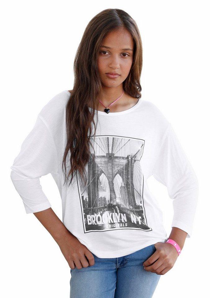 Arizona 3/4-Arm-Shirt mit Fotodruck in natur