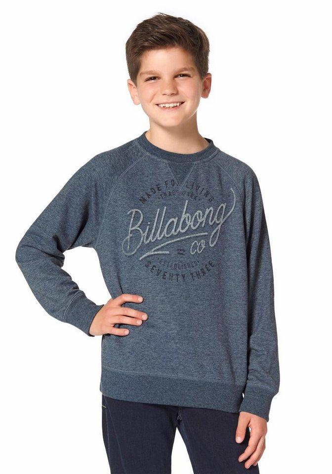 Billabong TRAILER CR BOYS Sweatshirt in Blau-Meliert