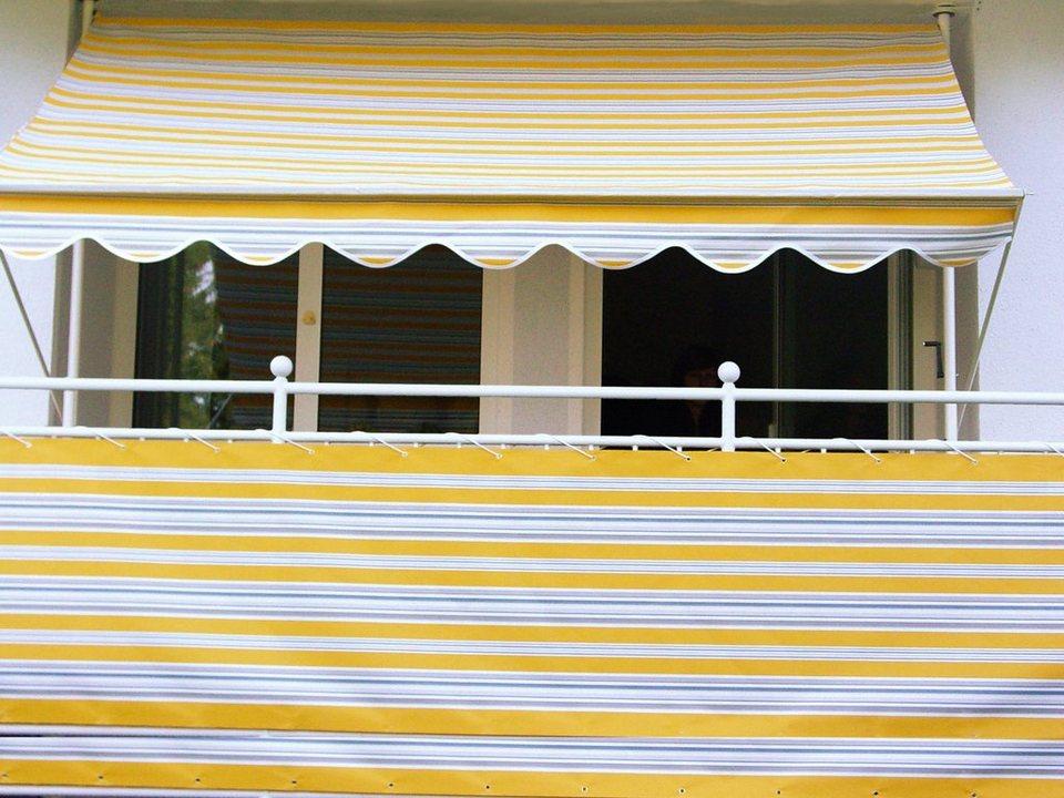 Balkonsichtschutz »Polyacryl, gelb/grau« in 2 Höhen in gelb