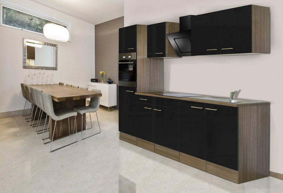 respekta k chenzeile mit e ger ten york breite 270 cm. Black Bedroom Furniture Sets. Home Design Ideas